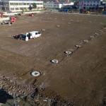 Nová hala F – zemní práce v plném proudu
