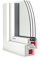 roh plastového okna PASIV CL v bielej farbe