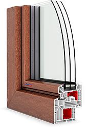 roh plastového okna PASIV HL s lamináciou