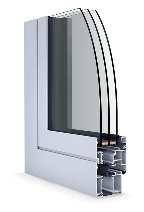 Hliníkové okno Slovaktual W 65