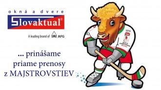 SLOVAKTUAL … přinášíme přímé přenosy z MS v ledním hokeji