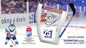 Slovaktual podporuje MS 2016 v ledním hokeji.