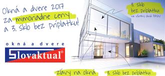 Okna a dveře 2017 za mimořádné ceny a 3. sklo bez příplatku