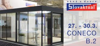 Lídr trhu oken a dveří vystavuje na CONECO 2019